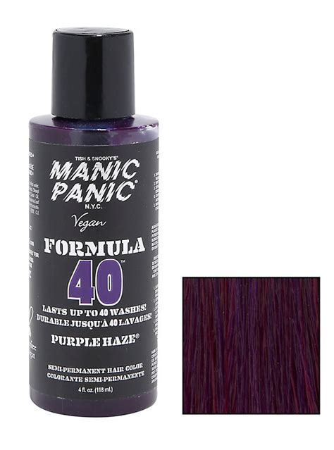 manic panic ultra violet hair dye hot topic manic panic formula 40 purple haze semi permanent hair dye