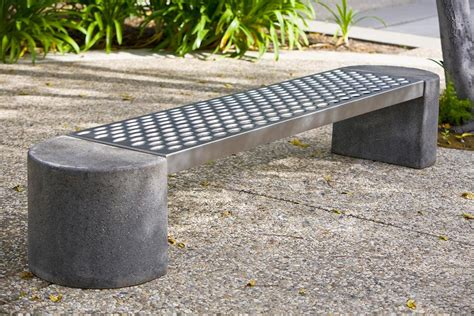 concrete bench seat foundation bench outdoor forms surfaces