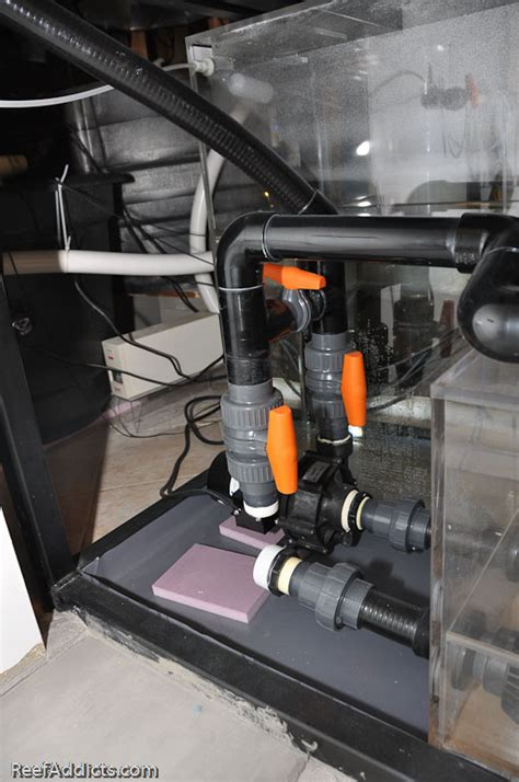 Reef Tank Return Plumbing by The Manifold Assembly Running Items From A