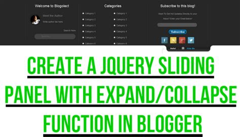 html expand collapse section 30 handpicked blogger widgets and plugins blogolect
