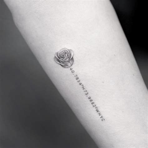 simple black rose tattoo 1000 ideas about small tattoos on