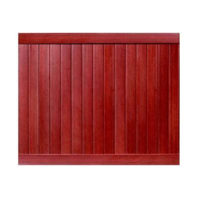 veranda pro series 6 ft h x 8 ft w mahogany vinyl