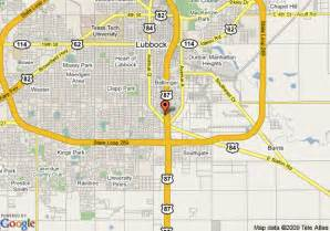 map of quality inn lubbock lubbock