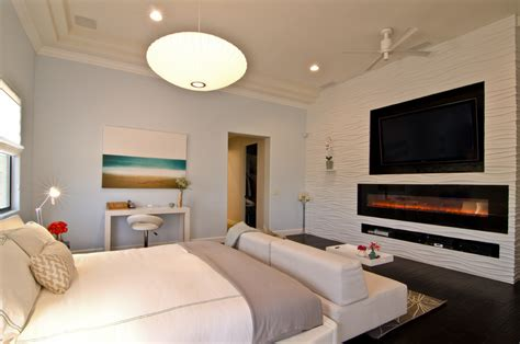 Beautiful white electric fireplace mode other metro transitional bedroom inspiration with 3 d
