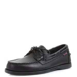deck shoes sebago mens sebago dockside black leather casual boat deck shoes