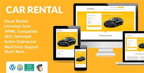 Shopify Rental Themes | car rental wordpress theme landing page by xpeedstudio