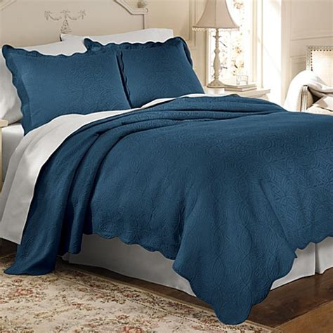 Buy Matelasse Coventry Coverlet In Cobalt Blue From Bed
