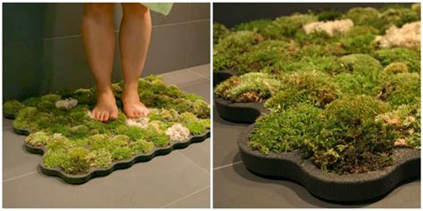 Moss Bath Mat Adds Nature To Your Bathroom How To Make Moss Bathroom Rug