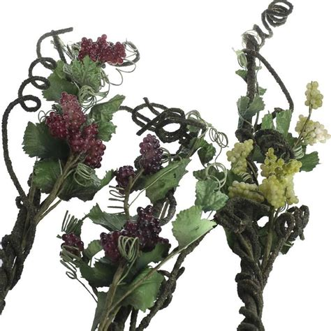 artificial grape and twisted grapevine stem floral sale