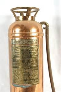 6 antique copper brass extinguisher lot 6