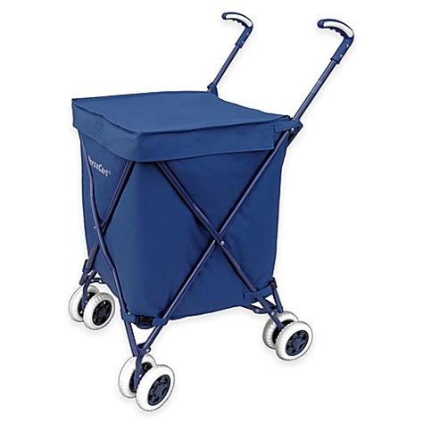 bed bath and beyond cart versacart folding utility cart in navy www