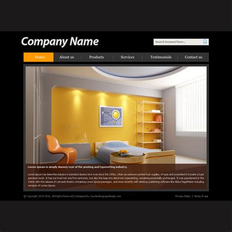 Best Interior Design Company Websites by Creative Best Website Template Psd For Sale To Create