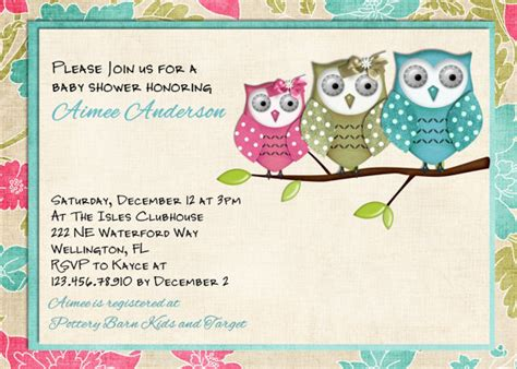 owl templates for invitations free owl baby shower invitation template theruntime com