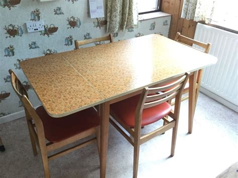 Best Finish For Kitchen Table Vintage Kitchen Table With 4 Chairs Formica Table Top Orange Finish In Salford Manchester