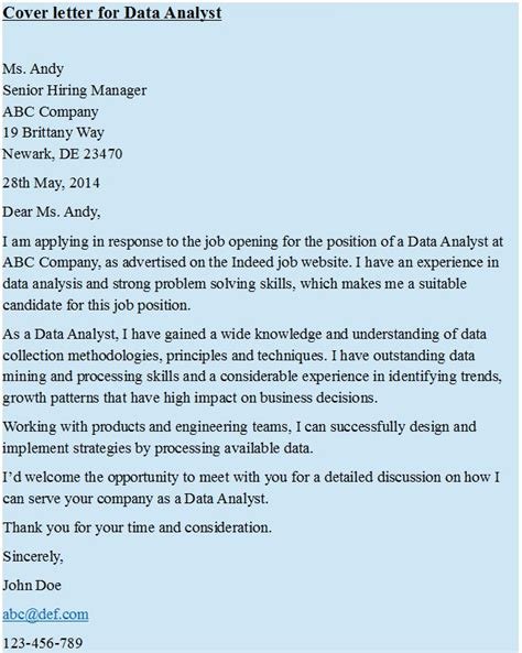 cover letter for data analyst https hipcv com pin