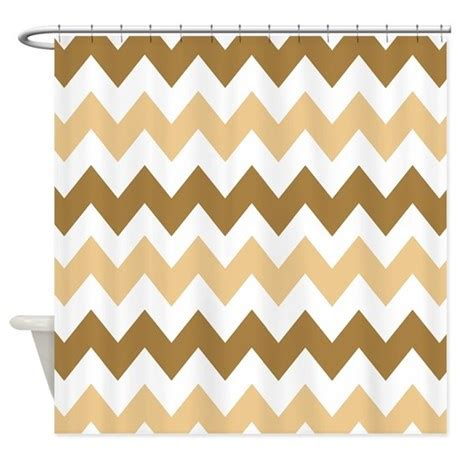 tan chevron curtains brown and tan chevron shower curtain by chevroncitystripes