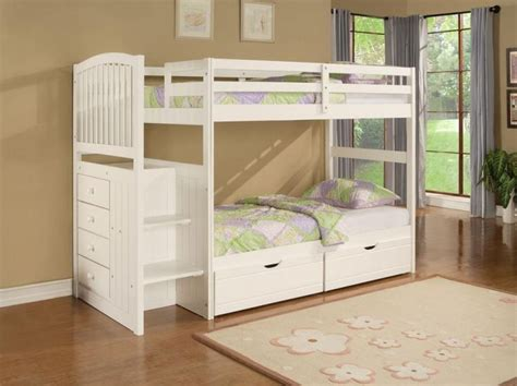 cute twin beds kids room designs cute white fermoy twin bunk beds with