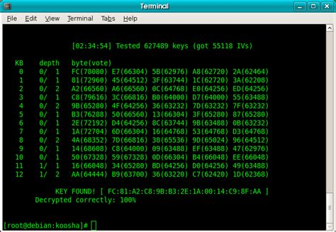 aircrack ng aircrack screenshot sectools