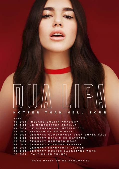 dua lipa tour hotter than hell tour dua lipa wikia fandom powered by