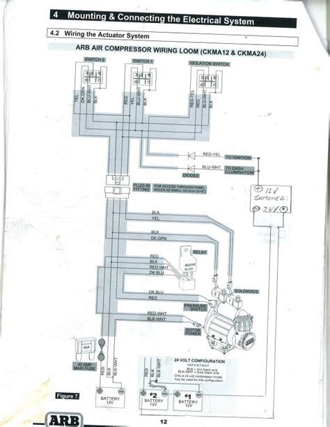 air compressor hook up diagrams 24 volt arb compressor install ih8mud forum