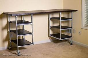 pipe desk plans industrial pipe desk shelving plans simplified building