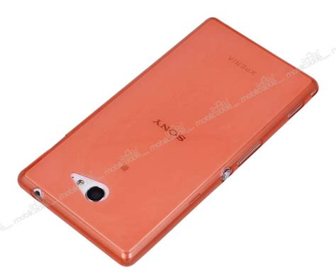 Hp Sony Xperia M2 Ultra sony xperia m2 ultra 莢nce 蝙effaf turuncu silikon k莖l莖f