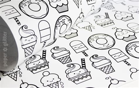printable wrapping paper to color printable wrapping paper desserts