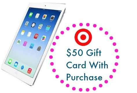 Target Ipad Mini Gift Card Deal - target deal 50 gift card with ipad purchase southern savers