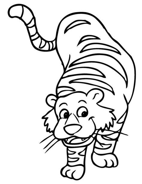 cartoon tiger coloring page cartoon illustration of a tiger coloring page cartoon