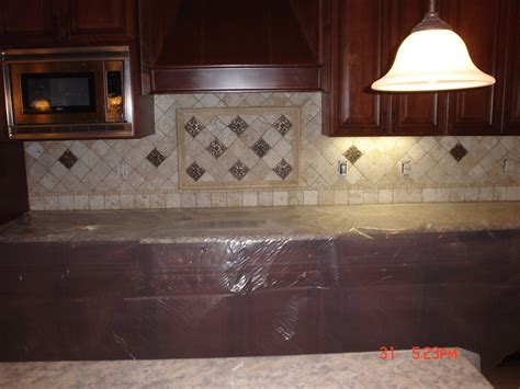 Backsplash Tile In Kitchen Travertine Tile Backsplash Ideas