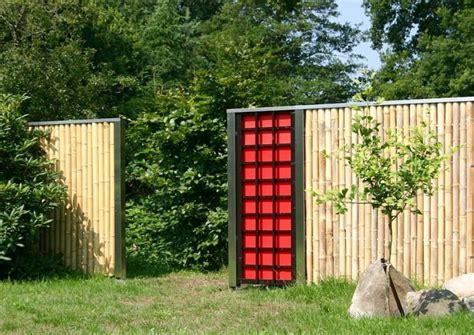 moderne zaunelemente bambus zaunelemente moderner sichtschutz