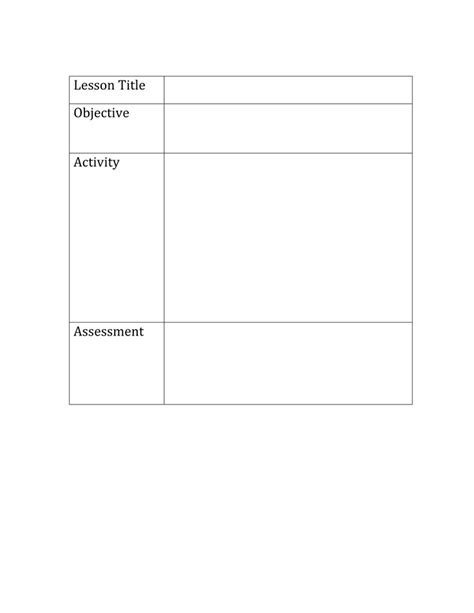 Basic Lesson Plan Template by Basic Lesson Plan Template Search Results Calendar 2015