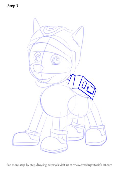 paw patrol super spy chase coloring pages step by step how to draw super spy chase from paw patrol