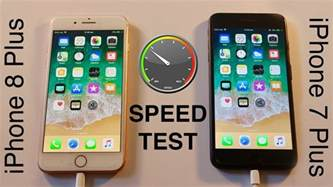 iphone 8 plus vs iphone 7 plus speed test
