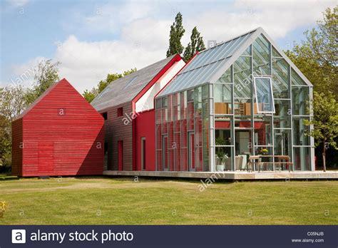 sliding house modern open plan barn sliding house suffolk england photo jeff stock photo royalty