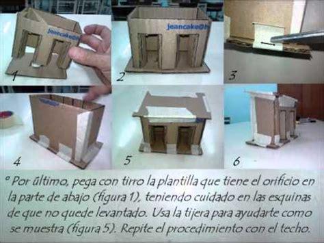 como hacer las piezas del pesebre en material reciclable c 243 mo elaborar casitas de nacimiento youtube
