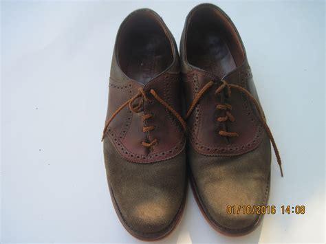 vintage l l bean green suede s saddle leather oxford