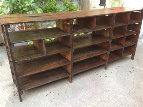librerie in legno usate mobile scaffalatura libreria bassa in legno anni 30 ebay