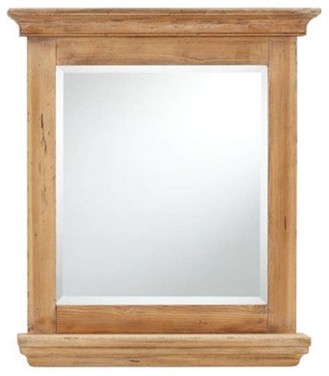 Wooden Bathroom Mirror With Shelf Reclaimed Wood Mirror With Shelf Traditional Bathroom Mirrors By Pottery Barn