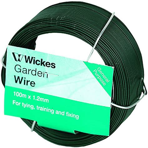 wickes pvc coated garden wire 1 2mm x 100m wickes co uk