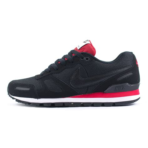 mens nike air waffle trainer blackredwhite running