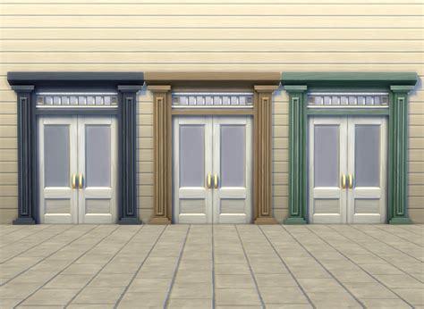 sims  blog  tile door  faux columns  tall