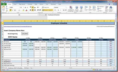Excel Spreadsheet Template For Scheduling by 7 Employee Scheduling Spreadsheet Excel Excel