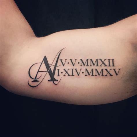 monogram tattoo numerals numeral monogram tats pinte