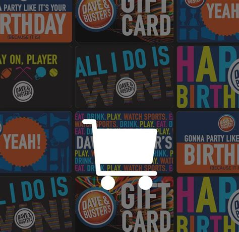 Dave And Busters Gift Card Balance - dave buster s gift cards