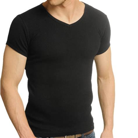 Ryusei Aikon T Shirt Black raiken ribbed v neck fitted sleeve t shirt mens size