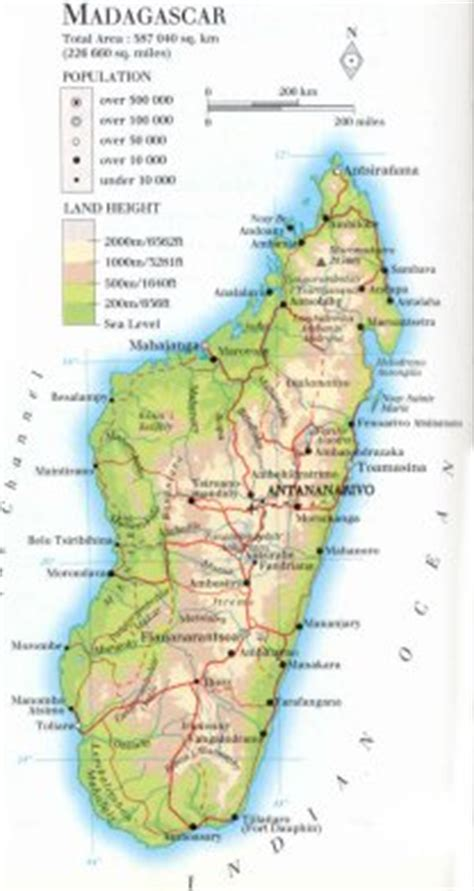 physical map of madagascar pin madagascar geographical features on