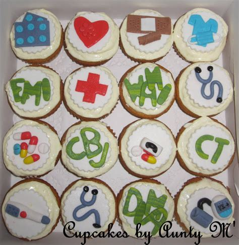 Cupcakes By Aunty M Doctor Medical Theme Cupcakes Doctor Themed Cupcakes