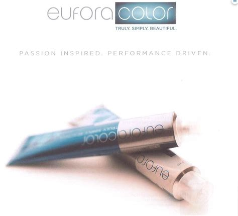 benefits of eufora hair color eufora hair color low ammonia and no ammonia formulations