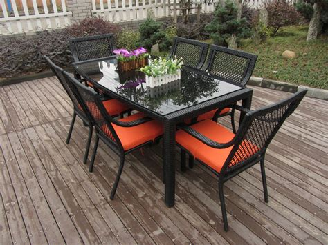 outdoor indoor rattan garden dining sets country style